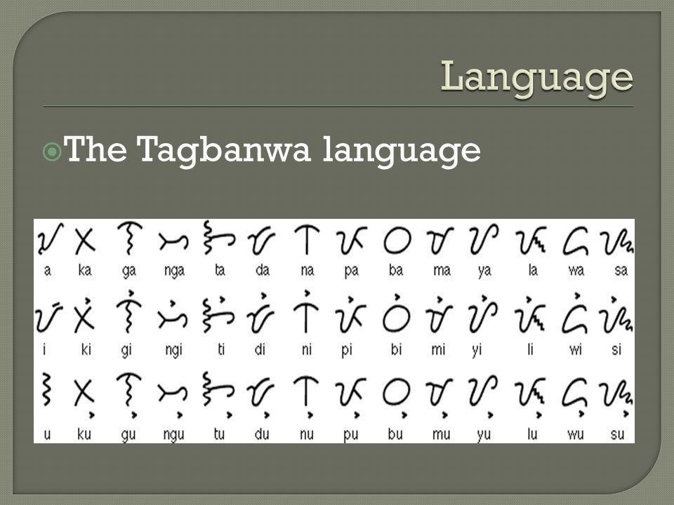 Language The Tagbanwa language