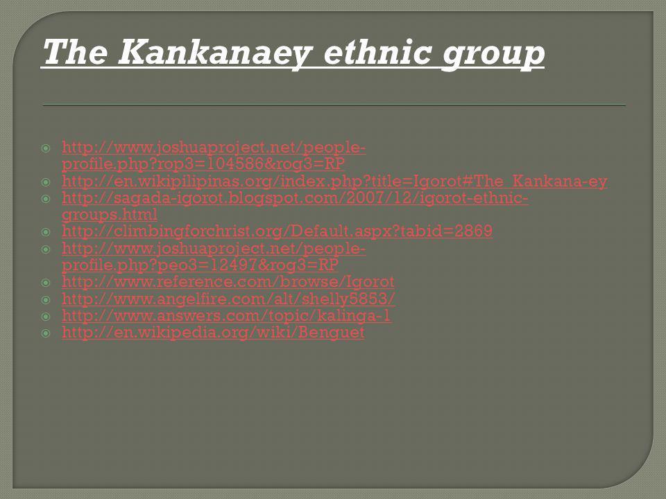 The Kankanaey ethnic group