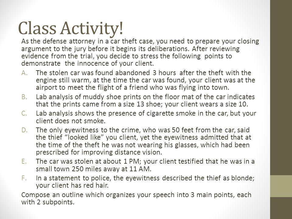 Class Activity!