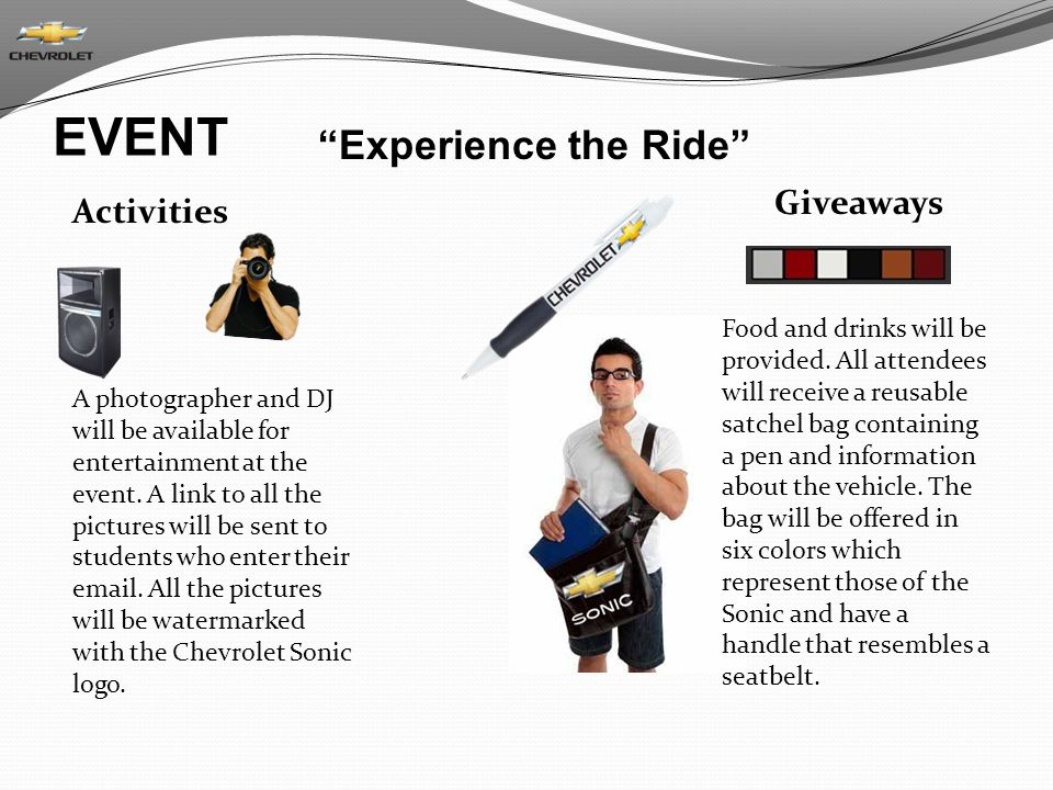 EVENT Experience the Ride Giveaways Activities