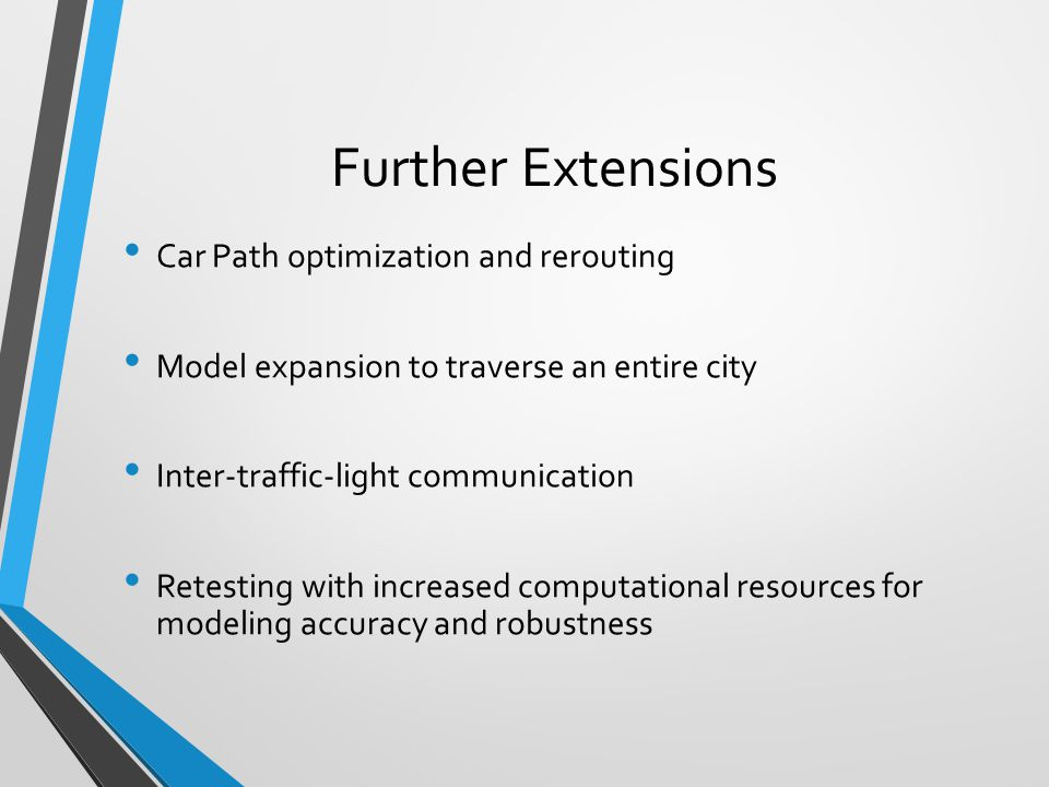Further Extensions Car Path optimization and rerouting