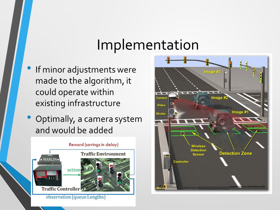 Implementation If minor adjustments were made to the algorithm, it could operate within existing infrastructure.