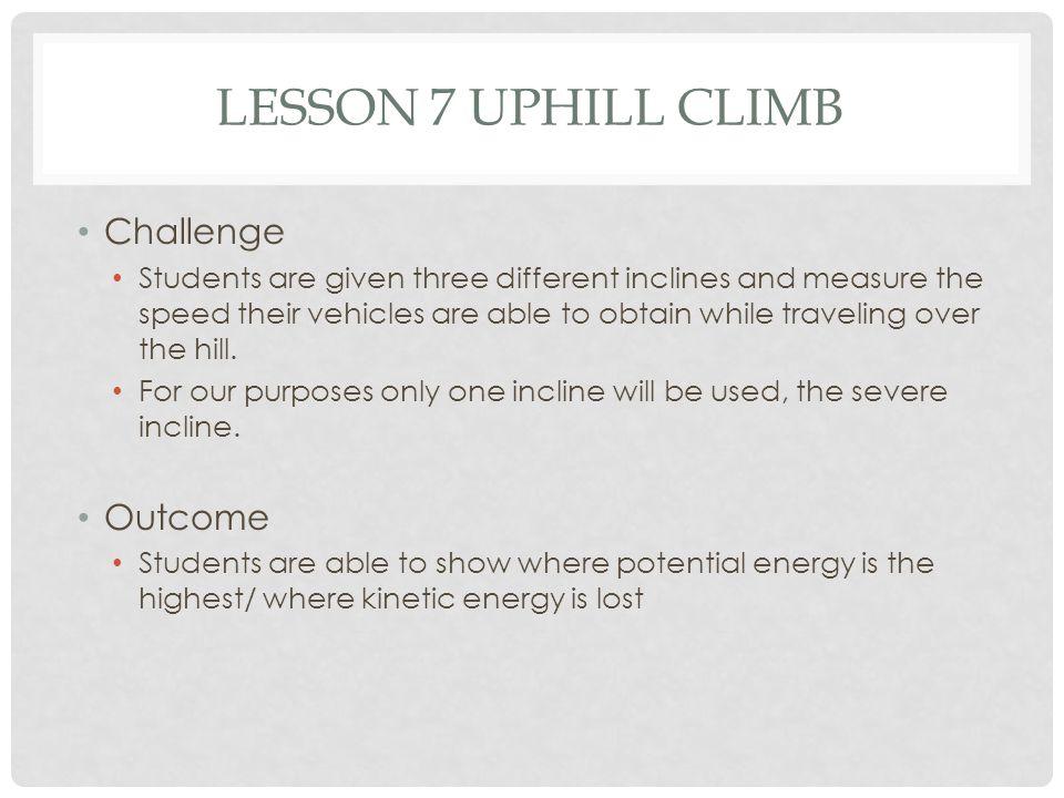Lesson 7 Uphill Climb Challenge Outcome