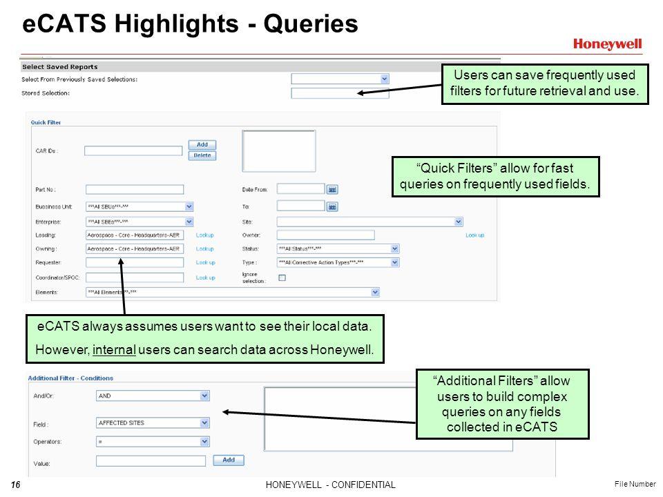 eCATS Highlights - Queries