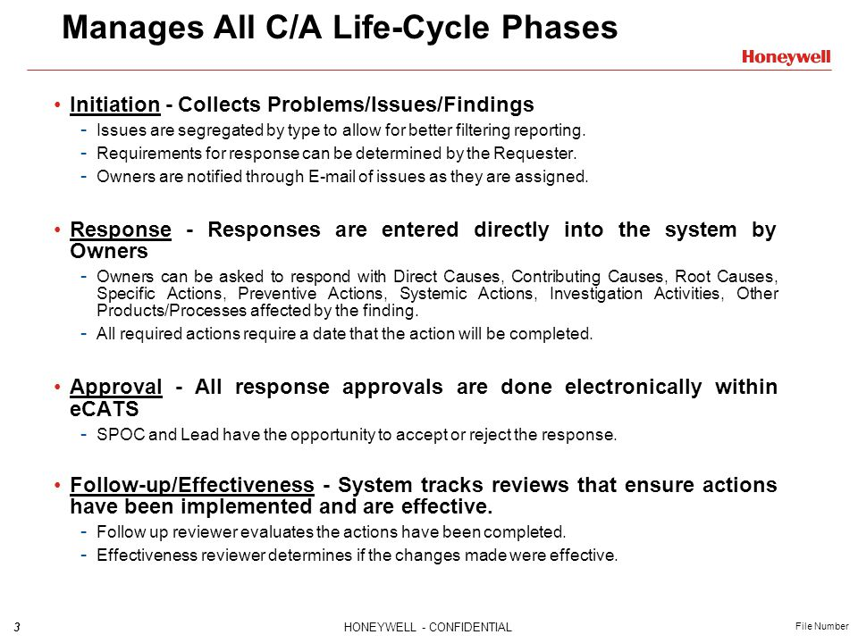 Manages All C/A Life-Cycle Phases
