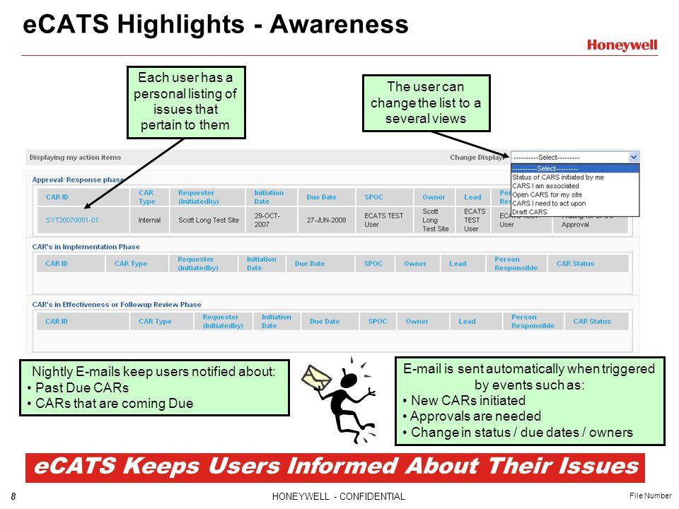 eCATS Highlights - Awareness