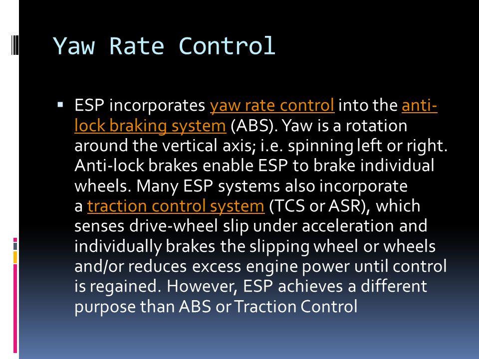 Yaw Rate Control