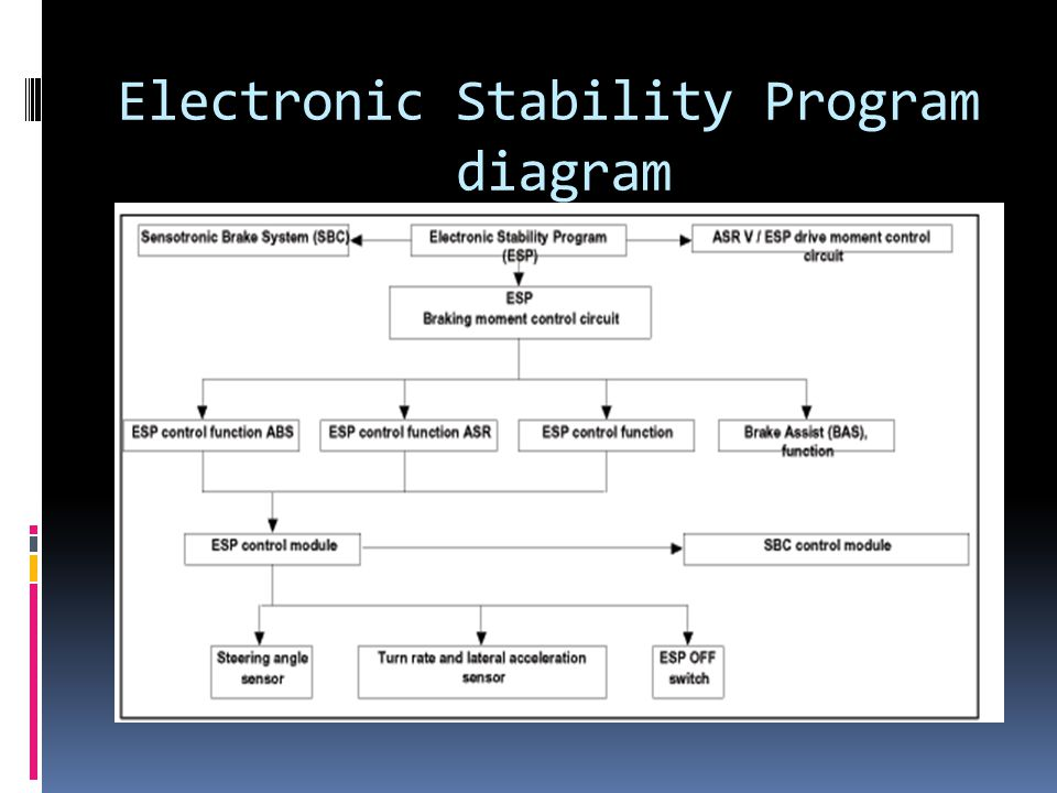Electronic Stability Program diagram