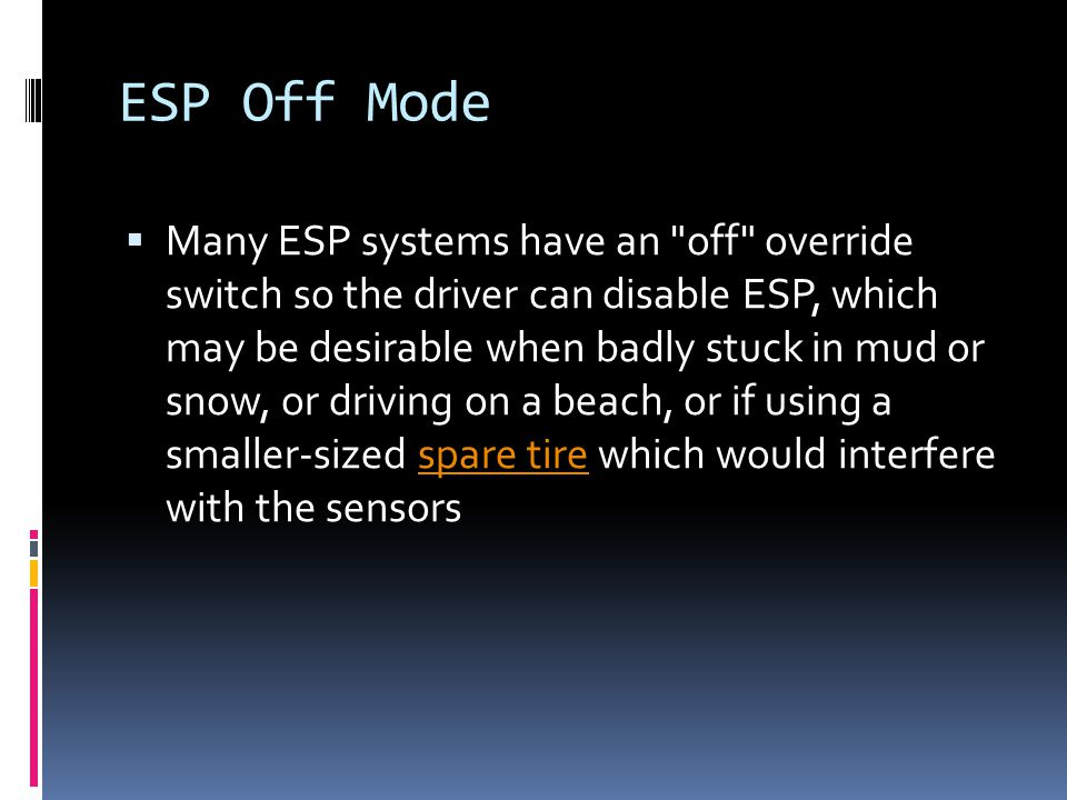 ESP Off Mode