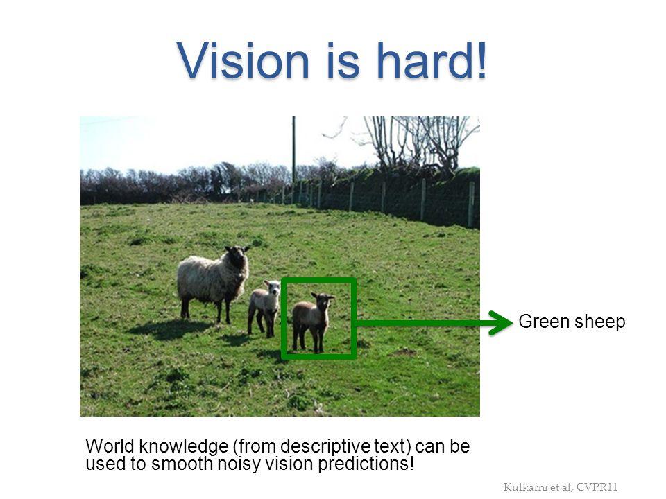 Vision is hard! Green sheep