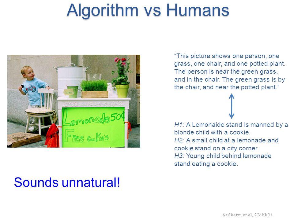 Algorithm vs Humans Sounds unnatural!
