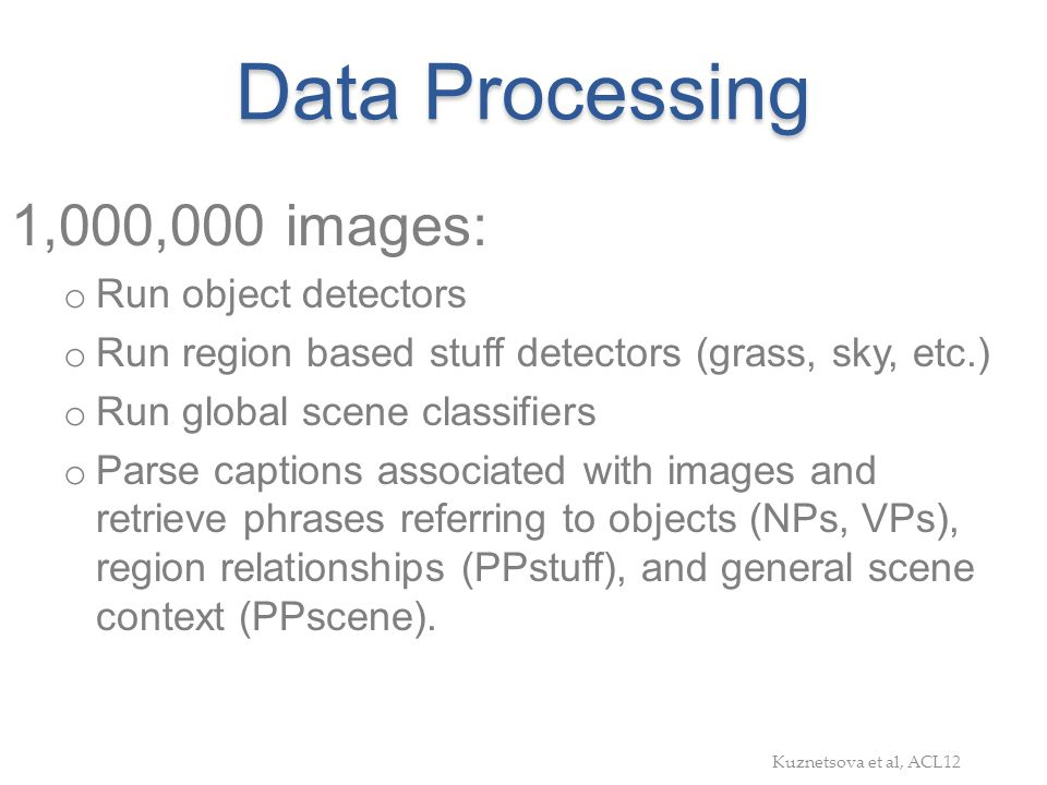Data Processing 1,000,000 images: Run object detectors