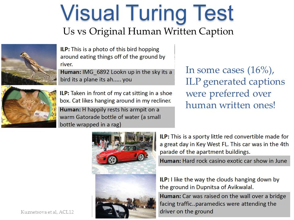 Visual Turing Test Us vs Original Human Written Caption
