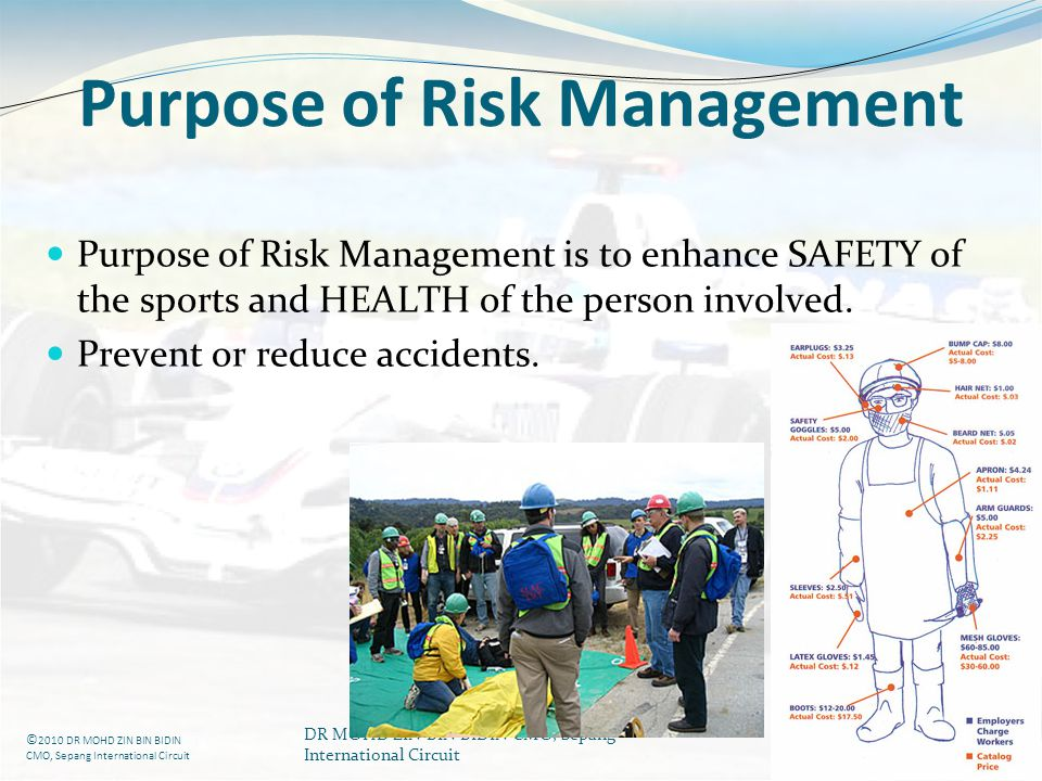 Purpose of Risk Management