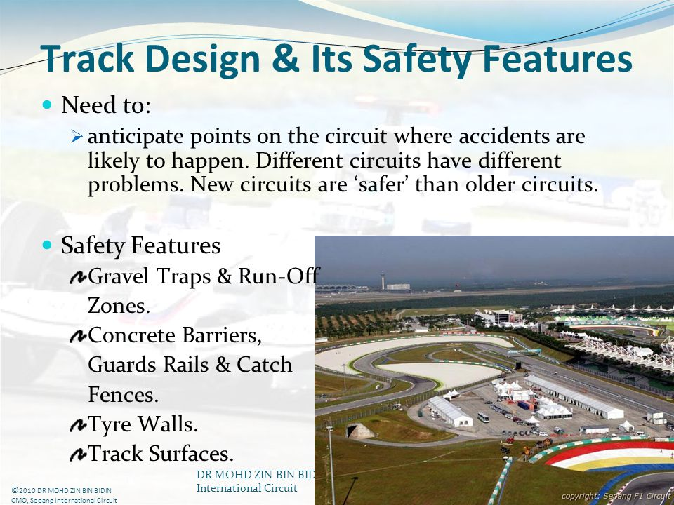 Track Design & Its Safety Features
