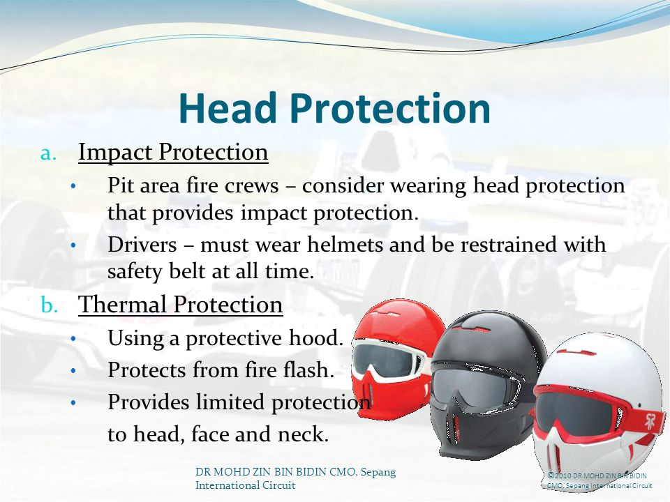 Head Protection Impact Protection Thermal Protection