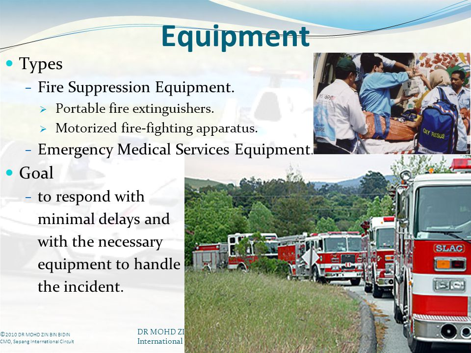 Equipment Types Goal Fire Suppression Equipment.