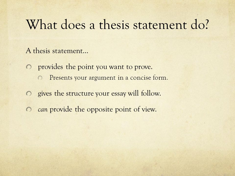 what does a thesis do Conduct your research in order to answer the central question of your master's thesis, you'll need to conduct the research necessary read the texts, conduct the experiments, do what you have to do to answer your thesis question.