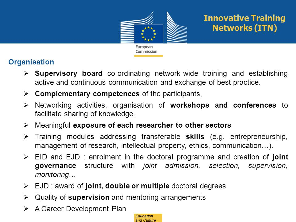 Innovative Training Networks (ITN)