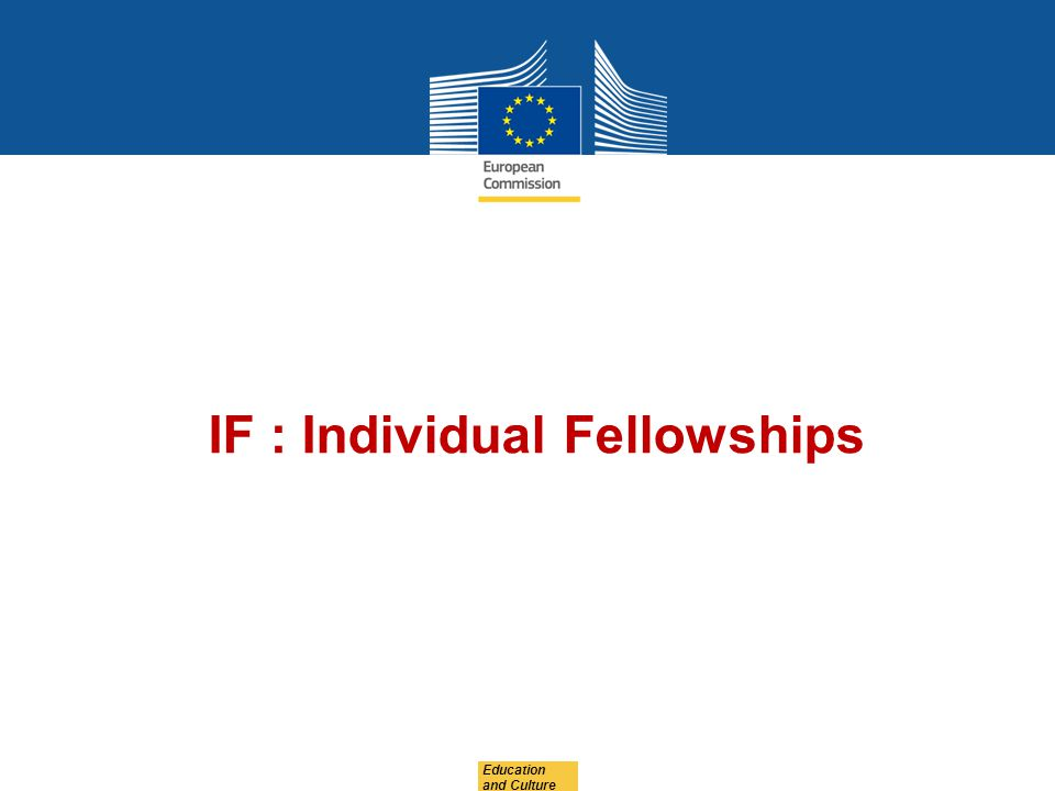 IF : Individual Fellowships
