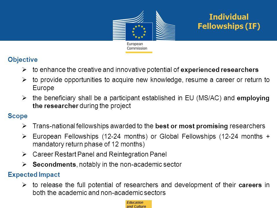 Individual Fellowships (IF)