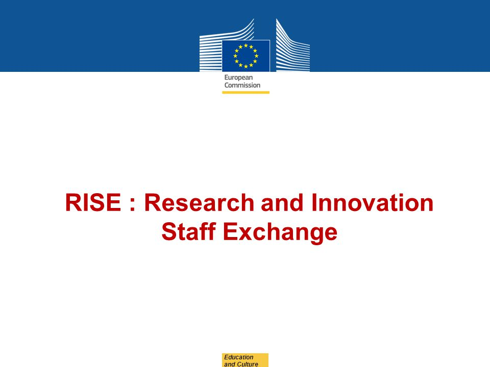 RISE : Research and Innovation Staff Exchange