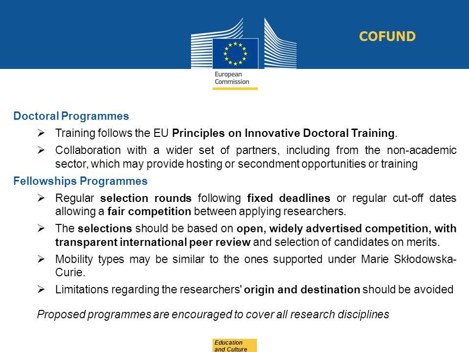 COFUND Doctoral Programmes
