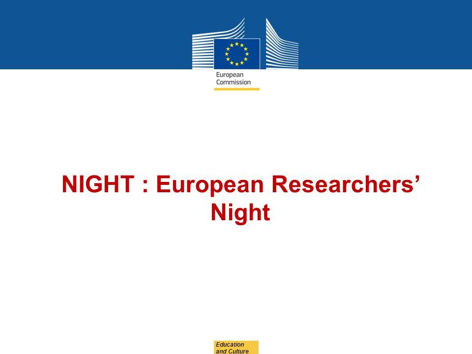NIGHT : European Researchers' Night