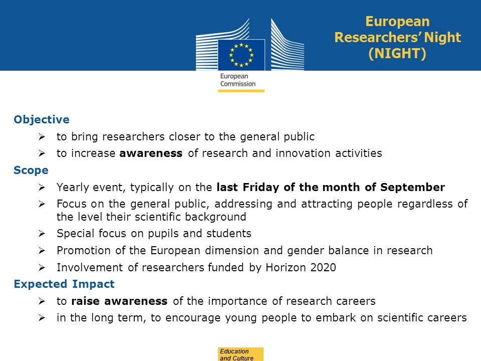 European Researchers' Night (NIGHT)