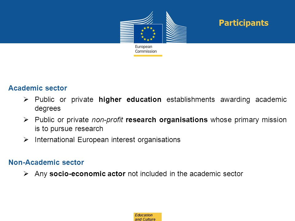 Participants Academic sector