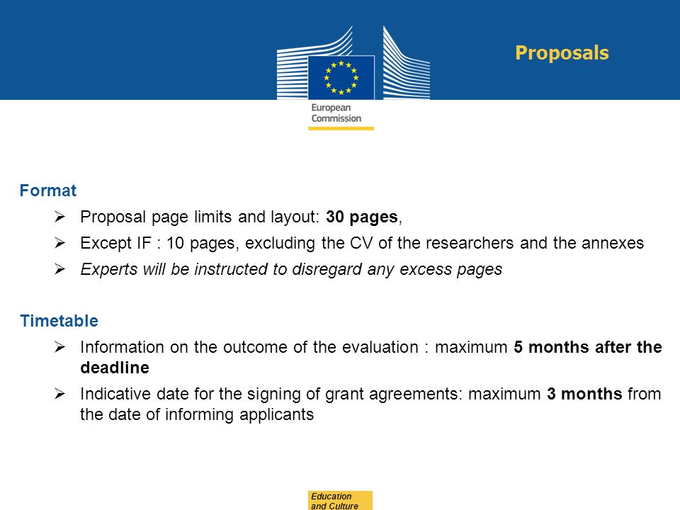 Proposals Format Proposal page limits and layout: 30 pages,