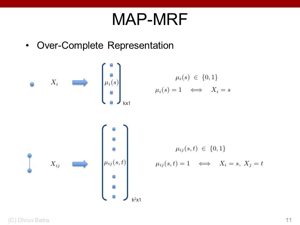 MAP-MRF Over-Complete Representation kx1 k2x1 (C) Dhruv Batra