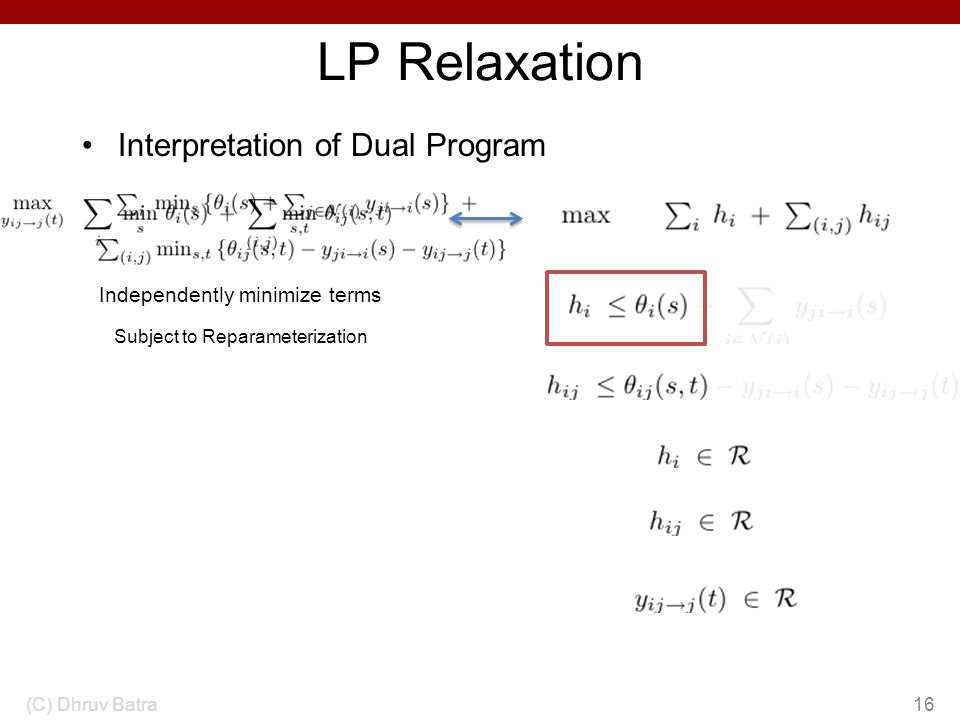 LP Relaxation Interpretation of Dual Program