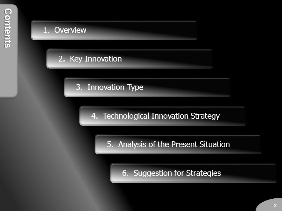 Contents 1. Overview 2. Key Innovation 3. Innovation Type
