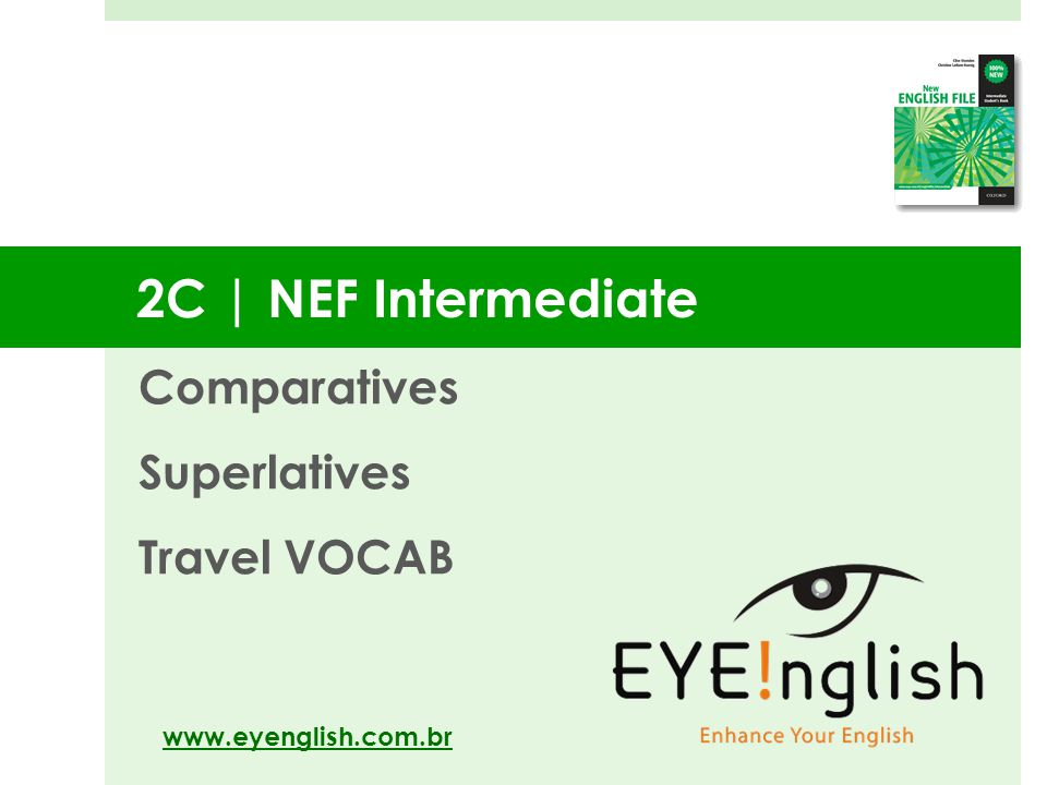 Comparatives Superlatives Travel VOCAB