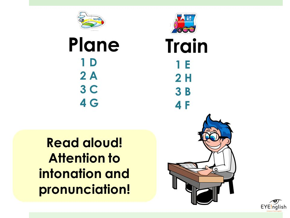Attention to intonation and pronunciation!