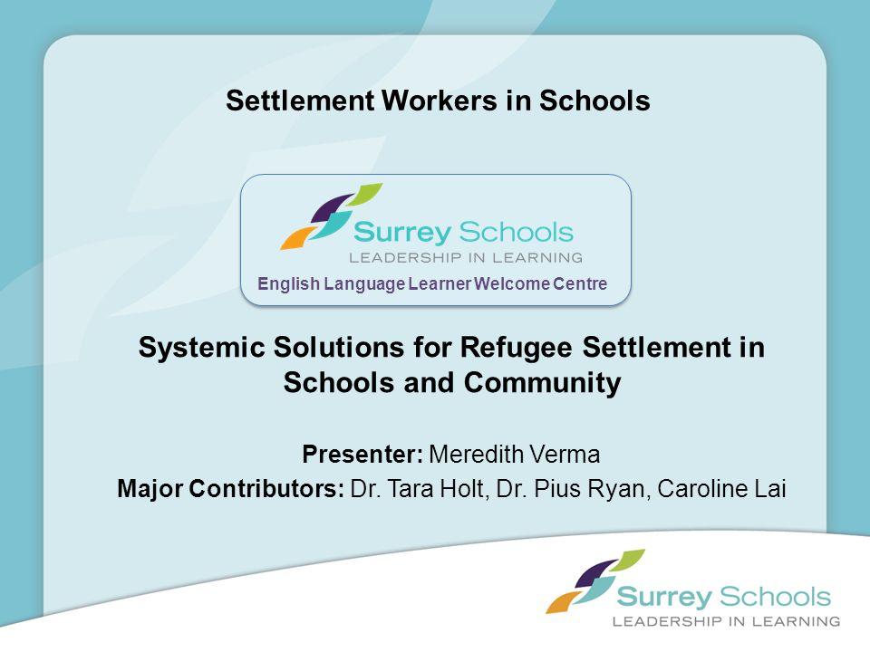 Settlement Workers in Schools