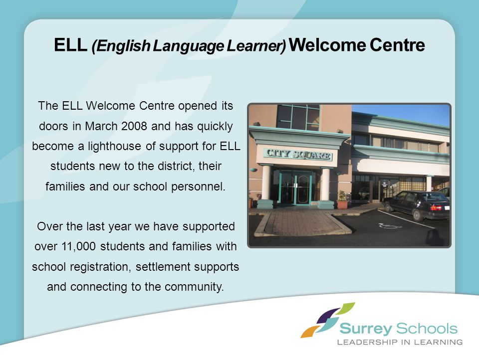 ELL (English Language Learner) Welcome Centre