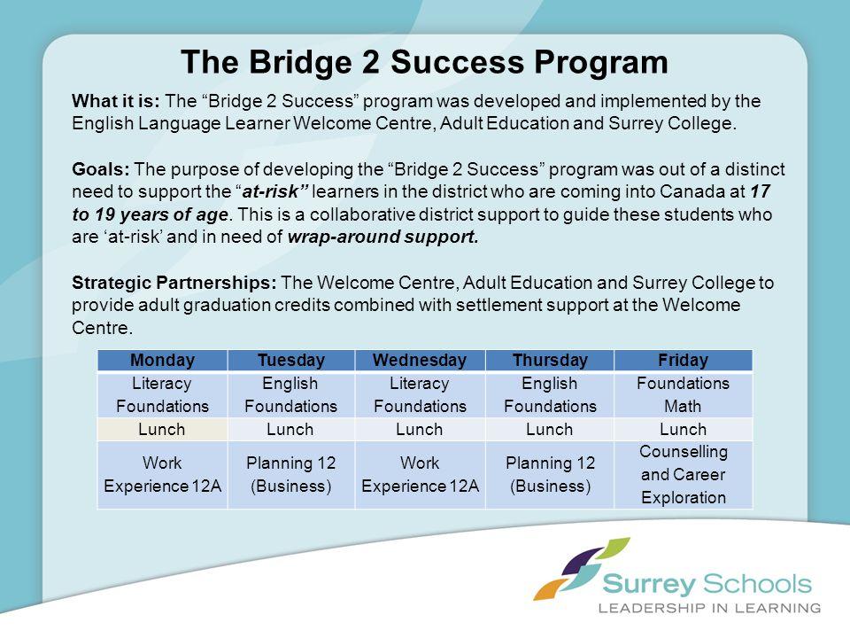 The Bridge 2 Success Program
