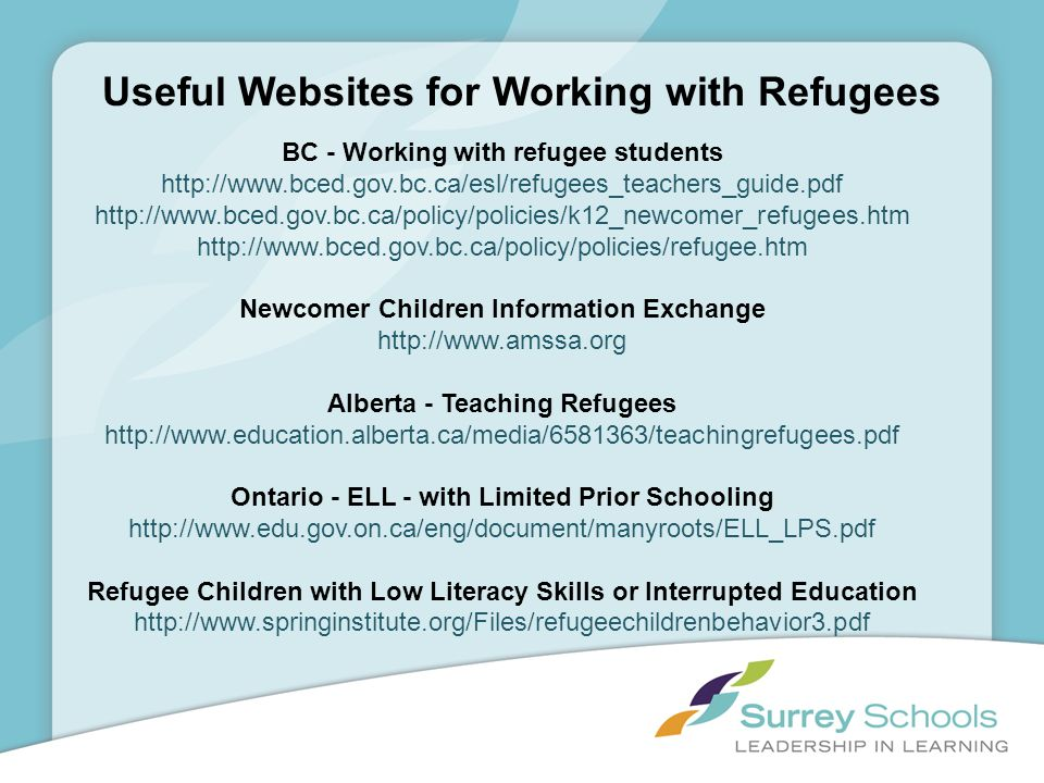 Useful Websites for Working with Refugees