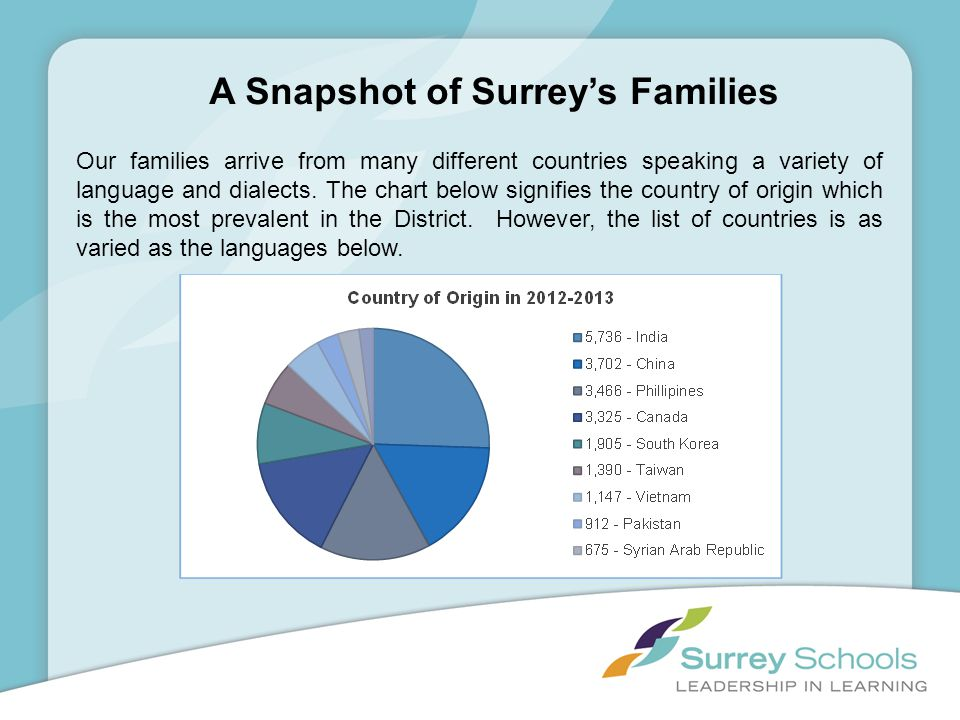 A Snapshot of Surrey's Families