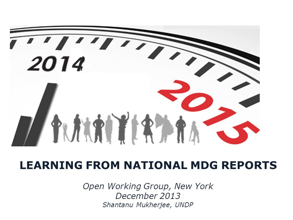LEARNING FROM NATIONAL MDG REPORTS