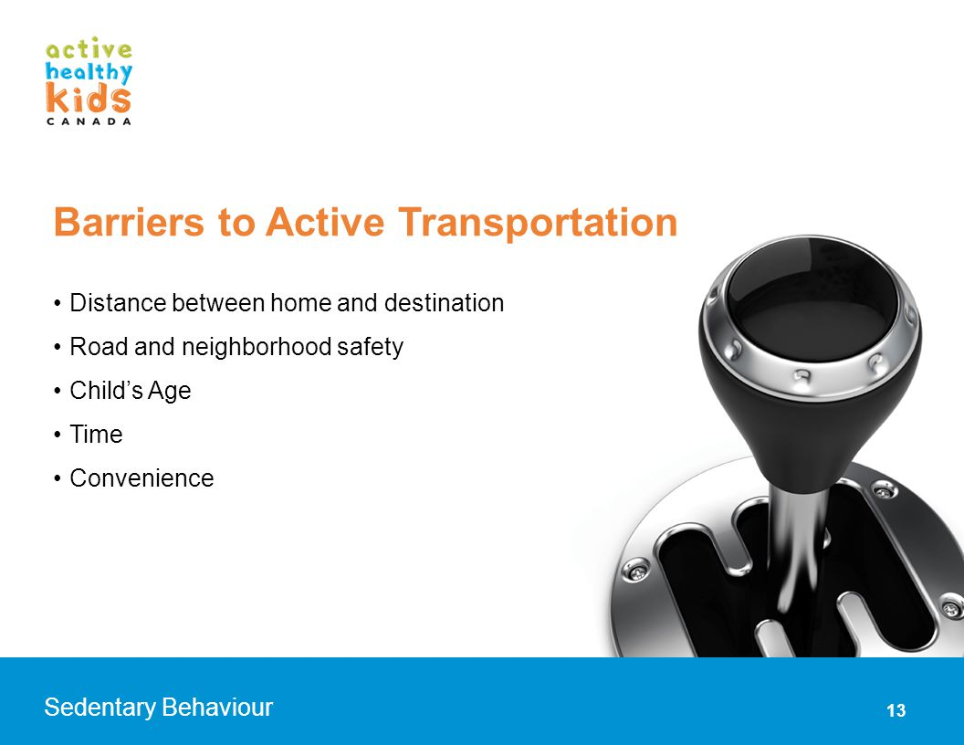 Barriers to Active Transportation