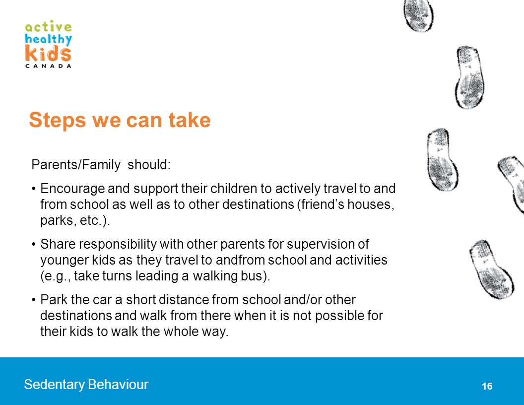 Steps we can take Parents/Family should: