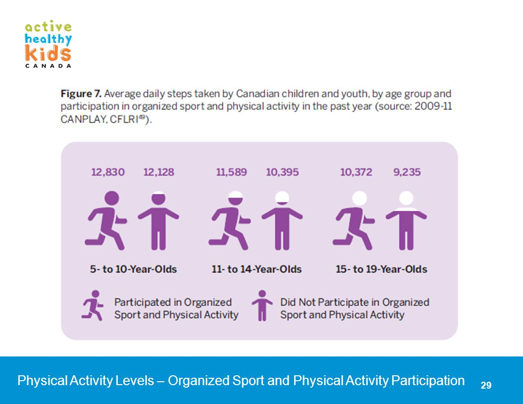 Physical Activity Levels – Organized Sport and Physical Activity Participation