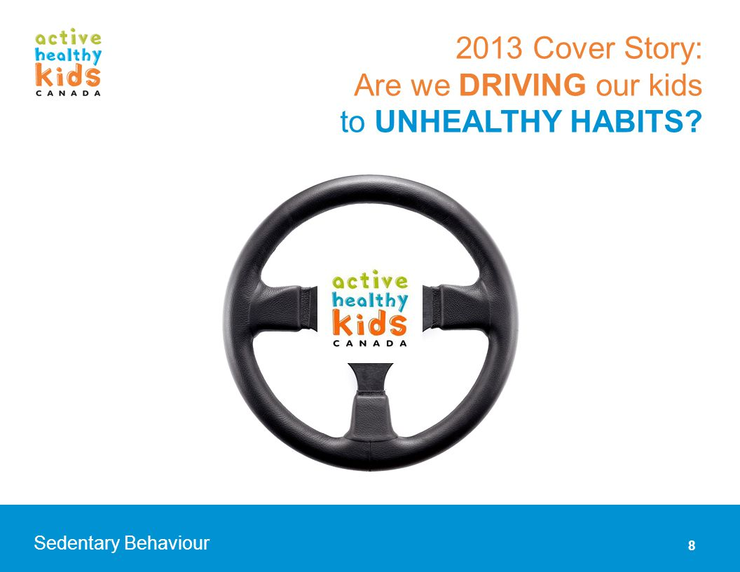 Are we DRIVING our kids to unhealthy habits