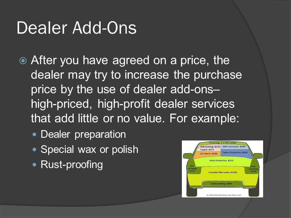 Dealer Add-Ons