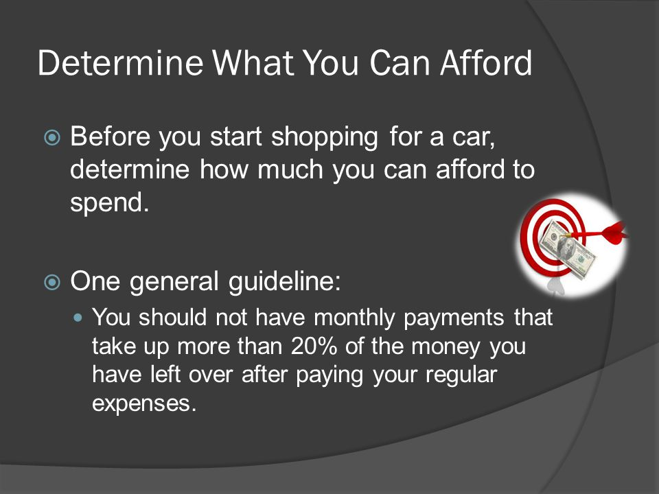 Determine What You Can Afford