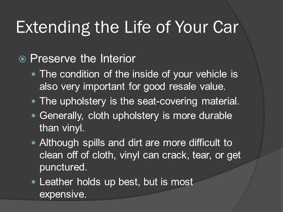 Extending the Life of Your Car