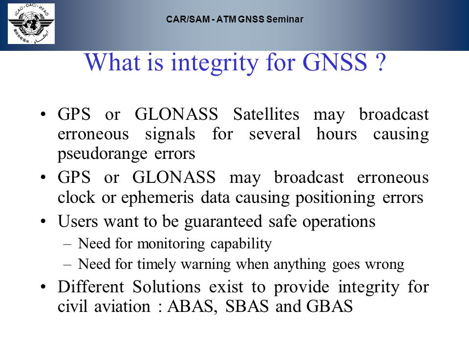 What is integrity for GNSS